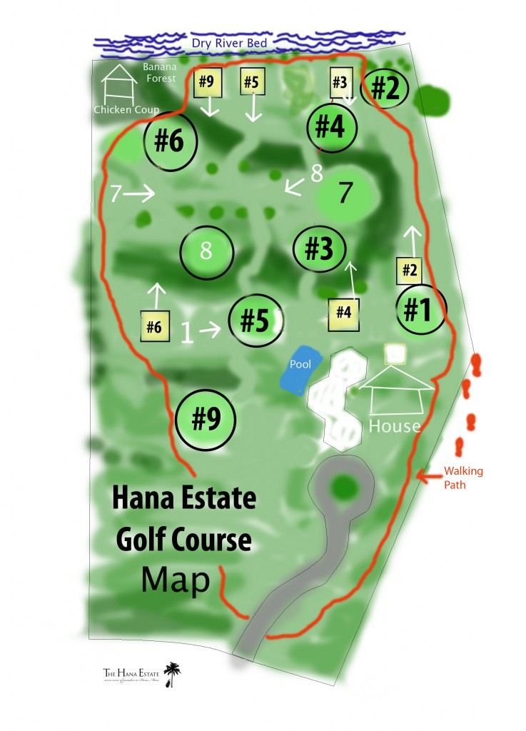 The Hana Estate Golf Course Map