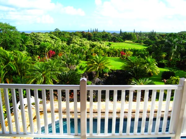 View from the 360 degree, wrap-around villa balcony
